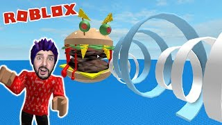 Roblox: XXL BURGER KAAN FROM BIG MÄC GEFRESSEN! Giant Burger Escape Obby