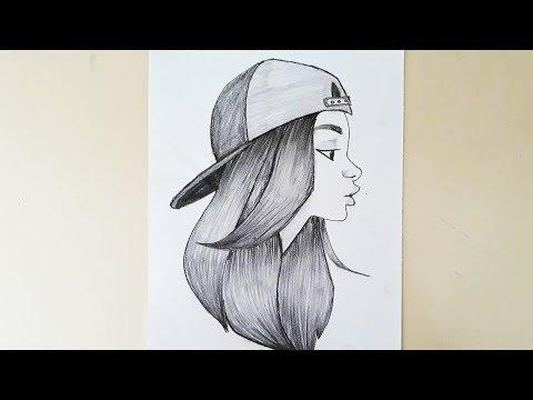 Sapkali Guzel Kiz Nasil Cizilir How To Draw A Beautiful Girl In