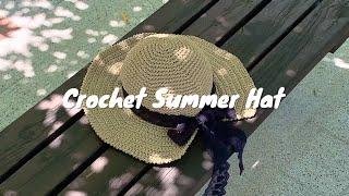 댄디 여름 챙모자 뜨기, 뜨개 모자, 코바늘 [뜨개다락…
