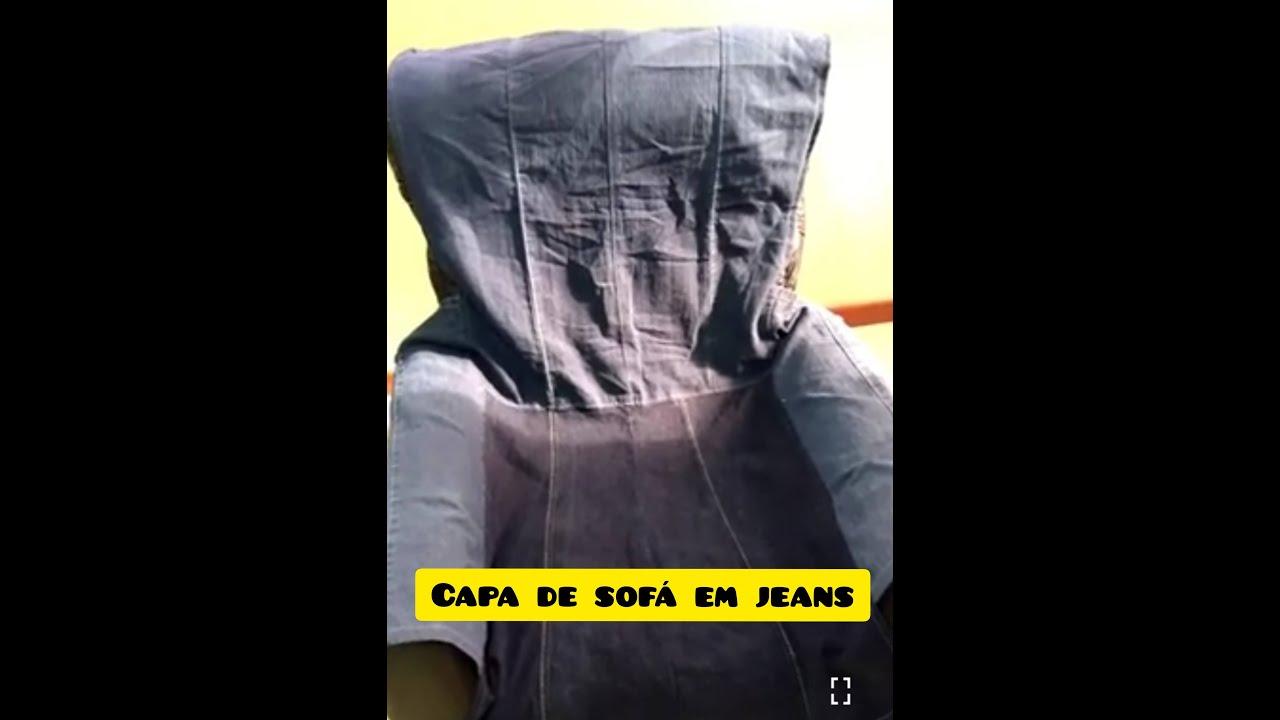 Capa De Sofa Em Jeans Youtube