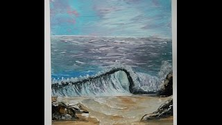 Spray Paint Art: Learn How to Paint Waves in Spray Paint - Seascape Art Part 3