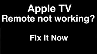 Apple TV remote not working  -  Fix it Now