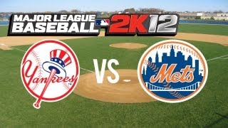 Major League Baseball 2K12 Yankees vs Mets
