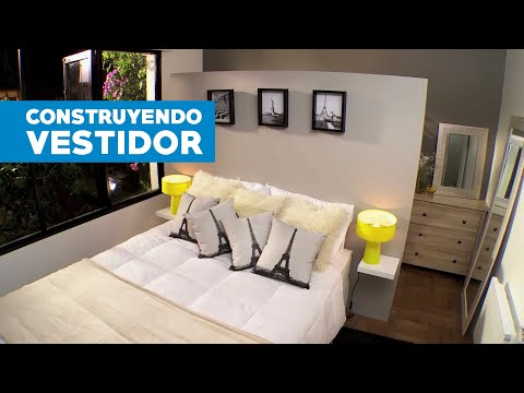 ¿Cómo construir un vestidor detrás de la cama?