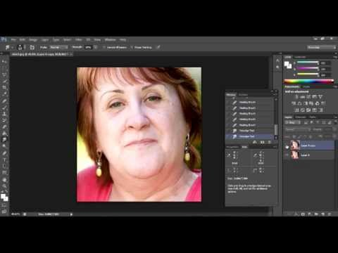 How To Reduce Double Chin. Photoshop CS6