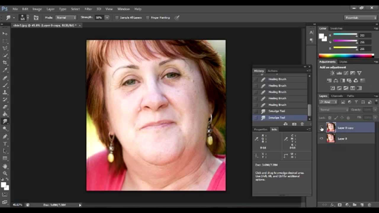 How to remove the second chin in Photoshop - instructions for beginners