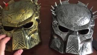 Золотая маска Хищника с оружием(Купил маску Хищника золотую, так как серебряная пришла немного снизу треснутая. Также получил пинцет-фонар..., 2016-08-11T14:28:28.000Z)