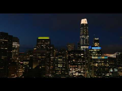"""Artist Jim Campbell's """"Day for Night"""" Transforms the San Francisco Skyline  ..."""