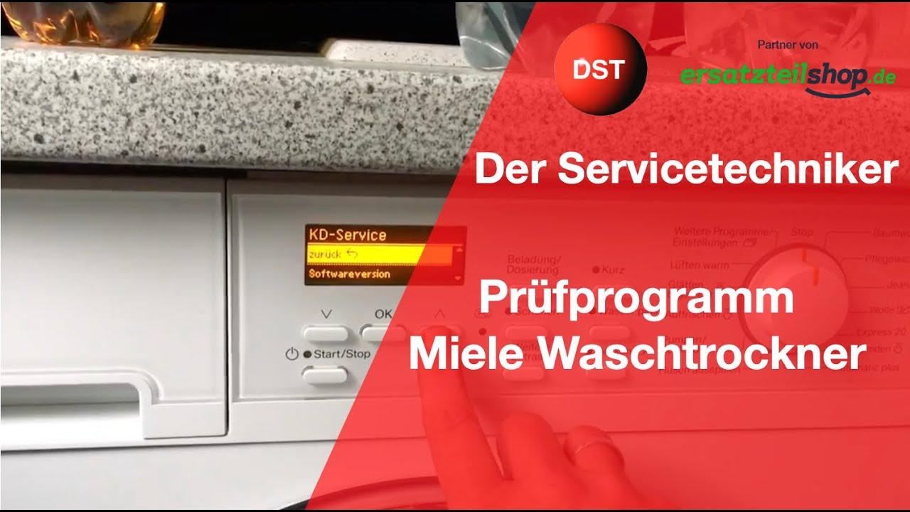 Miele waschmaschine und trockner servicemenü fehlerspeicher