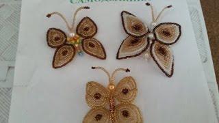 Плетение бабочки из бисера(Как сделать бабочку из бисера, смотрите как сделать простую и красивую бабочку из бисера. Мастер класс для..., 2014-08-24T12:20:17.000Z)