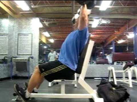 Dumbbell Shoulder Press 90 lbs