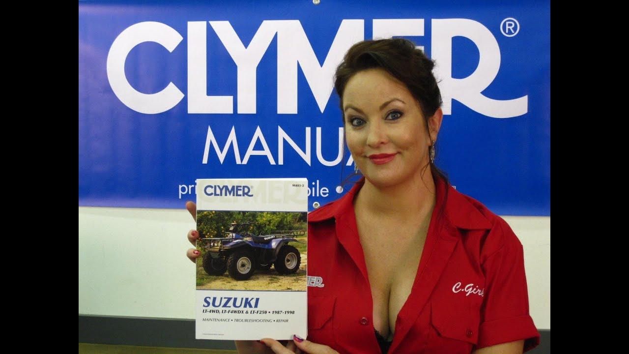 Clymer Manuals Suzuki LT4WD Manual LTF4WDX Manual LT