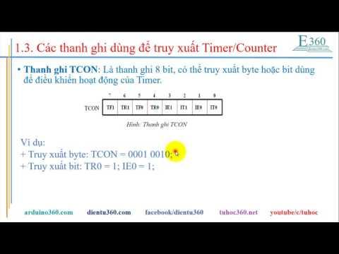 Tự học 8051: Bài 10 - Lập trình chức năng Timer