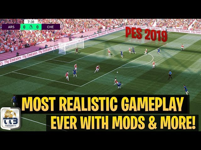 [TTB] PES 2019 - The Most Realistic Gameplay Ever! - New Camera Angles, Turf, Overlays, & More!