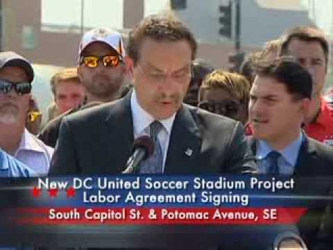 DC United Soccer Stadium Project Labor Agreement Signing, 9/10/13