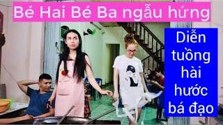 Hai chị em Bé Hai Bé Ba diễn tuồng hài hước bá đạo | KenKien TV