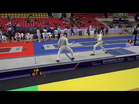 Asian Championships 2018 Bangkok Day04 - 20 June 2018 :  Men's Foil Team- Match 3rd  _AUS Vs JPN