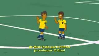 Neymar jr en los simpson