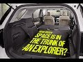 How Much Space is in the Trunk of the 2017 Ford Explorer?