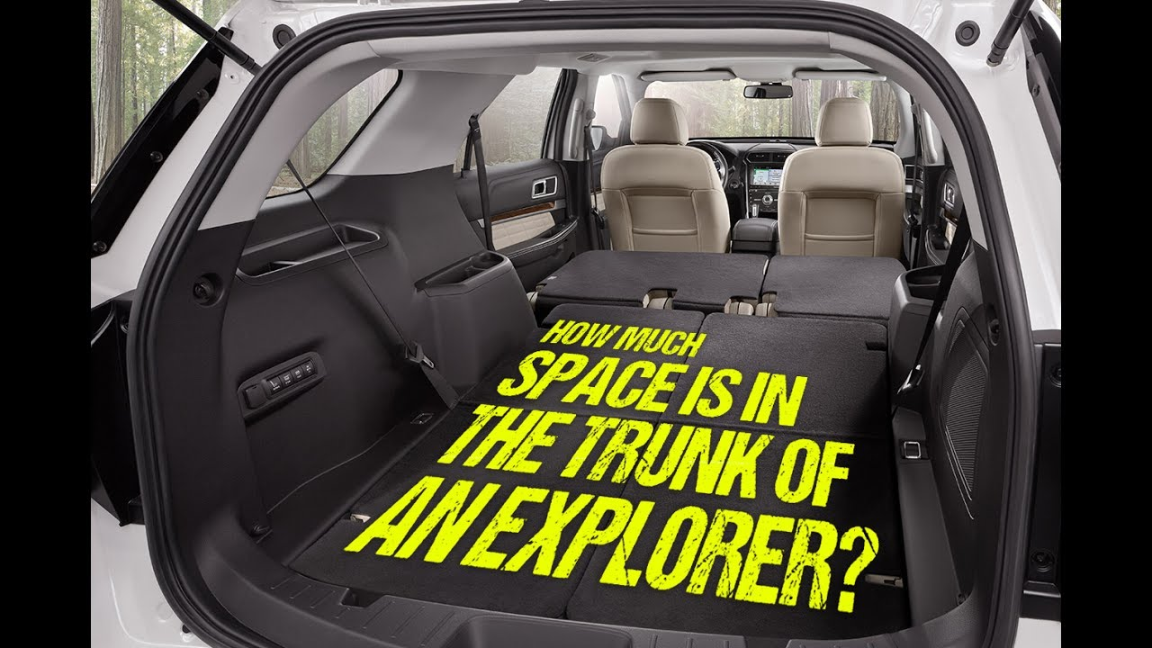 How Much Space Is In The Trunk Of The 2017 Ford Explorer Youtube