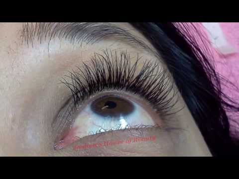good vs bad eyelash extension - YouTube