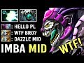 EPIC Machine Gun Dazzle Mid Delete Phantom Cancer Super Slow Skadi Build Crazy Gameplay WTF Dota 2
