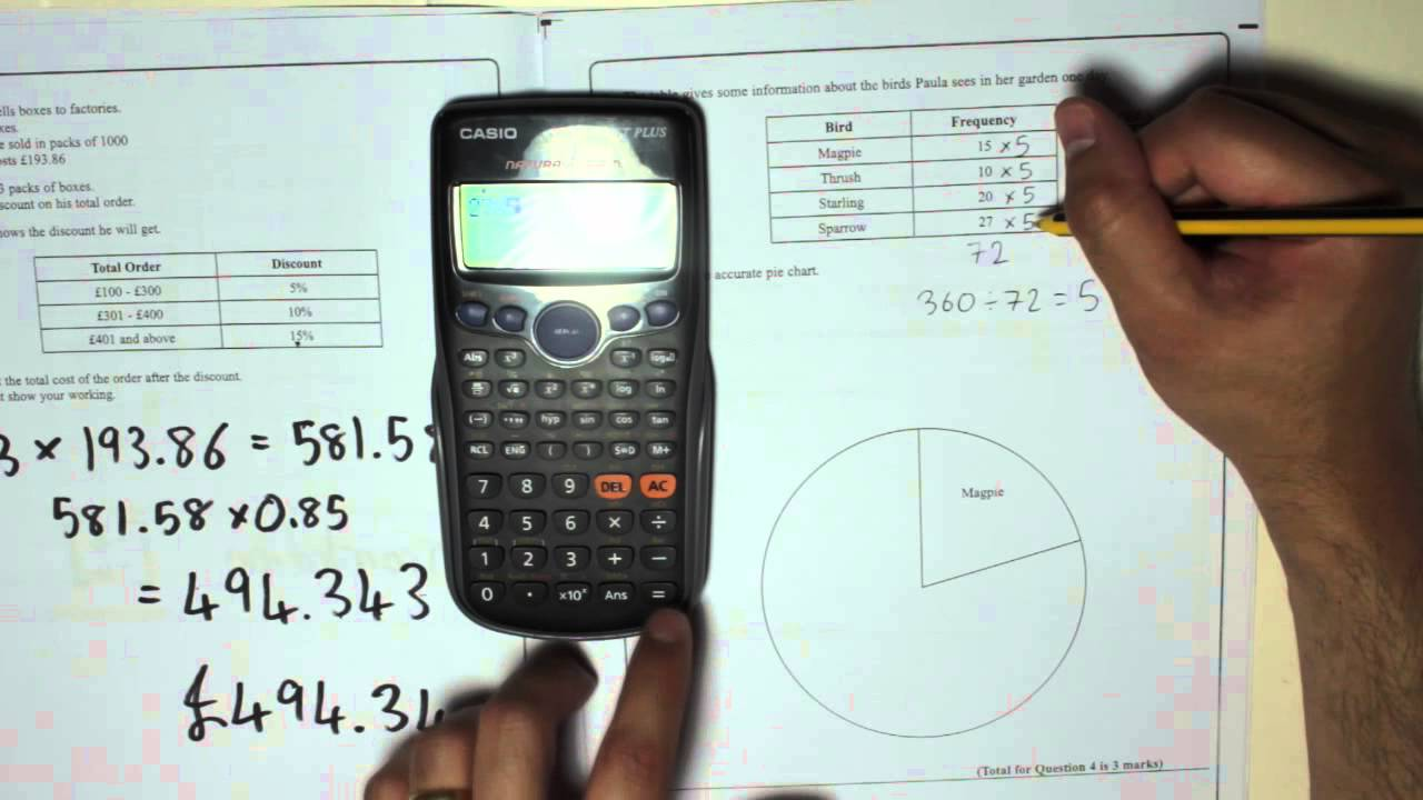 Edexcel gcse paper 2 november 2012 question 4 pie charts youtube nvjuhfo Gallery