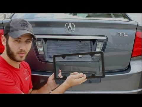 How To Install The TagArmur Carbon Fiber License Plate Frame From CarbonFiberGear.com