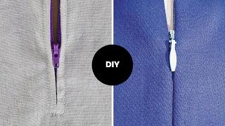 How To Sew Invisible Zipper + Normal Zipper I Beginner Sewing I OVOKE