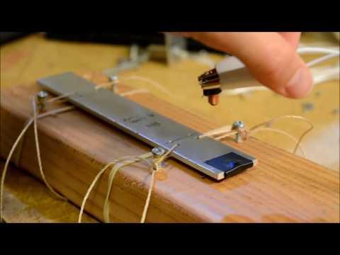 Xylophone Key Mounting Concept - Aluminum Keys, WIP (Glockenspiel)