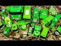 Green Color disney cars Tayo Bus Vehicle Play toys funny video for kids