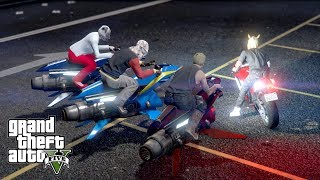 "LATAJĄCE 3 MOTOCYKLE VS BATI w GTA 5 Online Hogaty i EKIPA ""NOWA ZABAWA!"" #357"
