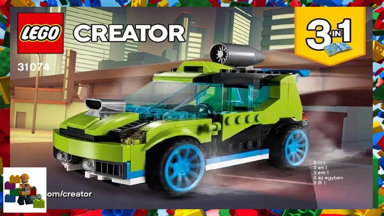 New Release For 2018! 31074 LEGO Creator Rocket Rally Car 241 Pieces Age 7