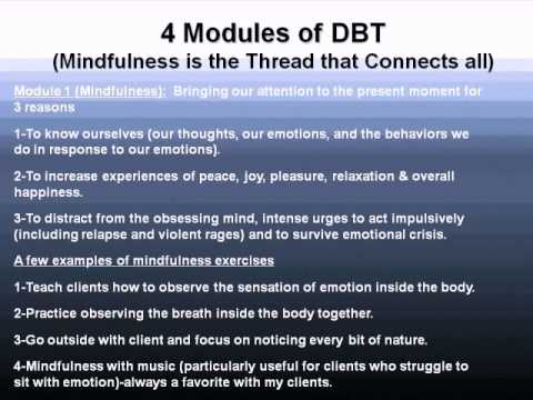 Dialectical Behavior Therapy: Assisting Our Clients in Regulating Their Emotions