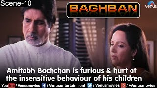 Amitabh Bachchan is furious & hurt at the insensitive behaviour of his children (Baghban)