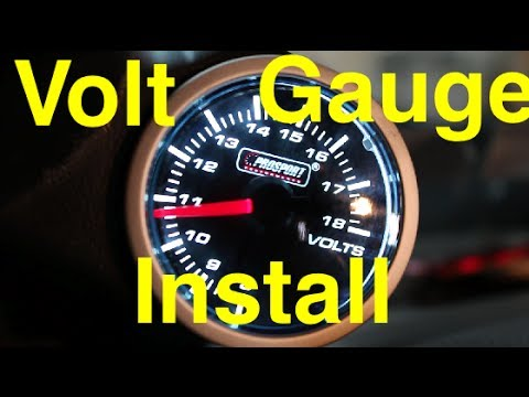 Volt Gauge Install   ProSport Performance Series Volt Gauge   1JZ Supra  YouTube