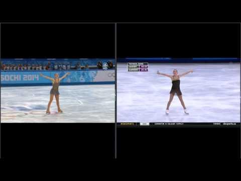 (Sochi Olympic Scandal) Adelina Sotnikova - Sochi 2014 vs TEB 2013