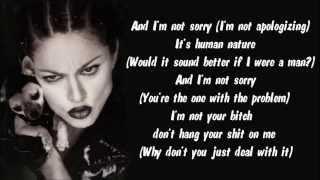 Madonna - Human Nature (BV) Karaoke / Instrumental with lyrics…