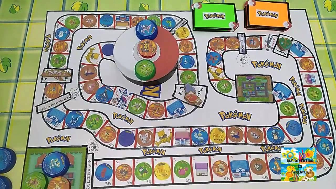 Juego De Mesa De Pokemon Inventado Por Nosotros Board Game Pokemon