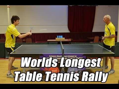World's Longest Table Tennis Rally