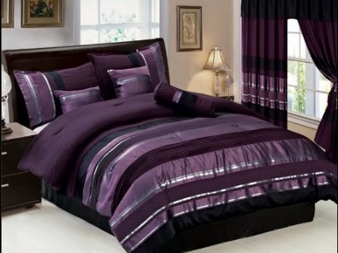 purple bedroom sets. Purple Comforter Sets King  YouTube