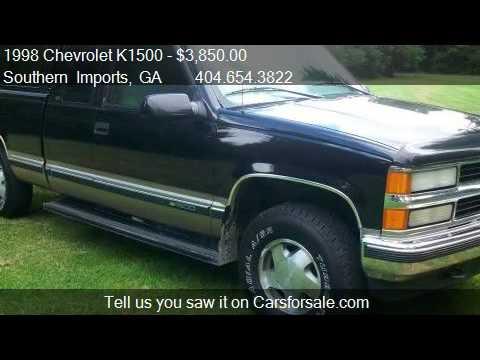 1998 Chevrolet K1500 Ext Cab Z71 3rd Door 4x4 For Sale In Youtube