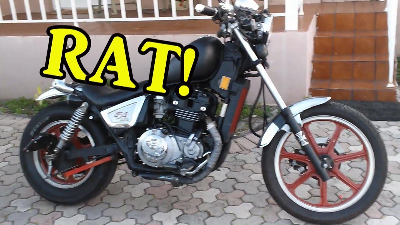 1986 Kawasaki 454 LTD Rat bobber Project - YouTube