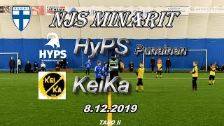 NJS Minarit P11 HyPS Punainen vs KeiKa 8.12.2019