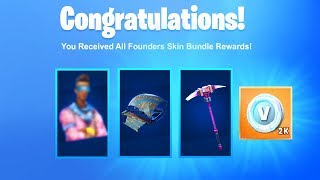 How To Unlock The NEW Founders Skin Bundle + FREE VBUCKS in Fortnite! (EXCLUSIVE FOUNDERS SKIN PACK)