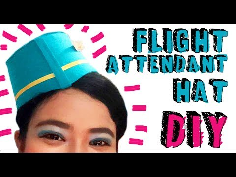 DIY Flight Attendant Hat || Cara Membuat Topi Pramugari