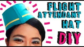 DIY Flight Attendant Hat || Cara Membuat Topi Pramugari