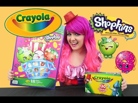 Coloring GIANT Shopkins Crayola Coloring Page | COLOR WITH KiMMi THE CLOWN