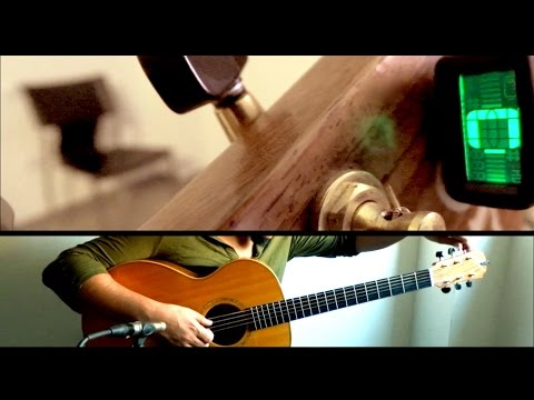 "jimmy page style - open ""c"" acoustic guitar solo - by  sergio rivas"