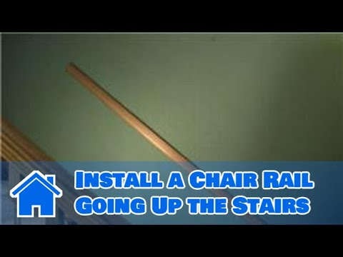 Trim & Molding : How to Install a Chair Rail Going Up the ...